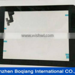For iPad 2 touch glass with digitizer Black