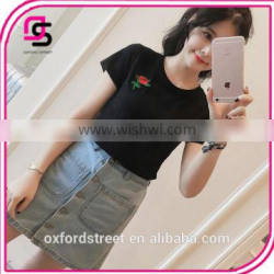 Summer cotton short sleeved T-shirt short sleeve T-shirt slim lady T all-match bottoming shirt