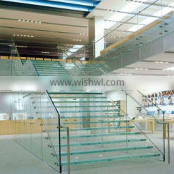 Tempered glass panel stairs