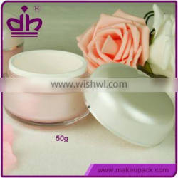 50g pink plastic face care cream containers for sale