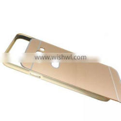 Luxury 2 in 1 Metal Aluminum Frame Plastic Hard Back Bumper Case Cover For Samsung Galaxy e7 e7000