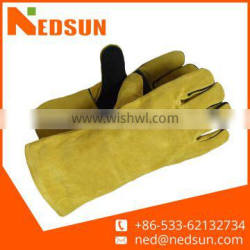 Hot sales double palm safety leather welding gloves for working