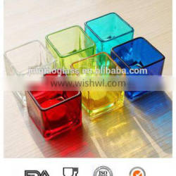 Fancy glass candle holder with different colors for weeding or decoration/candelabrum/candlestick