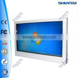 Wall mount information searching way finding kiosk