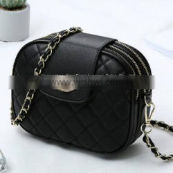 Europe and the United States high-end leather shoulder diagonal cross-chain women's bag