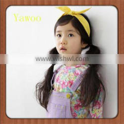 Baby Knotted Cotton Children Bow Latest Design Band Cute Hairbands Headbands for Girls Baby Bow Yellow Headbands Accessories