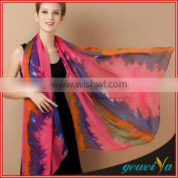 Custom 8mm Digital Printing Chiffon Silk Scarf