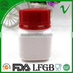 HDPE wholesale square disposable hermetic plastic jar with screw cap