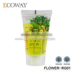 high quality transparent plastic tubes with caps for hotels shampoo tube