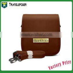 Dark Brown Fuji fujifilm Instax Polaroid Mini 25 Camera Leather Bag