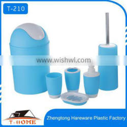 2016 New Design Eco-Friendly Feature and plastic pp bathroom set