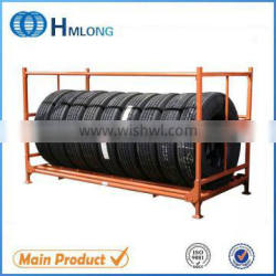 Stackable auto warehouse storage truck tire rack