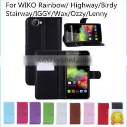 Luxury Flip PU Leather Cover For Frane Wiko Rainbow Highway Birdy Stairway IGGY Wax Ozzy Lenny Wallet Leather Bag