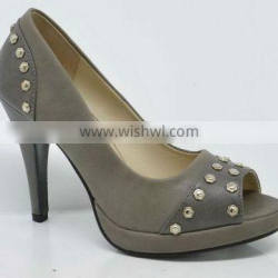 Italy high quality office shoes spring designs ,high heel,metal parts