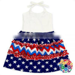 Baby Frock Design Pictures Wear Western Dress White Strap Cotton Girls Party Dresses