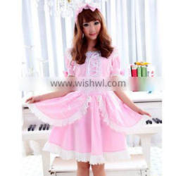 GLP Lolita sweet pink flounced bow dress with hair bands 81117