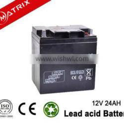 sealed rechargeable 12V battery 24ah