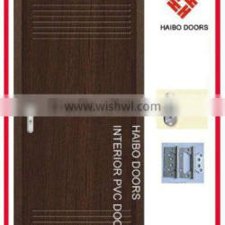 High quality mdf wood flush pvc door for toilet and bathroom