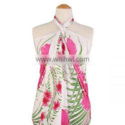 Ladies polyester printed women beach wear,sarong