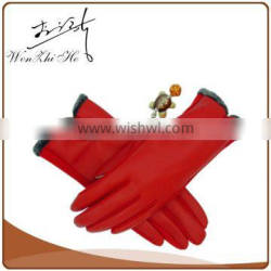 2016 Thin Red PU Leather Driving Gloves in Any Color For Lady