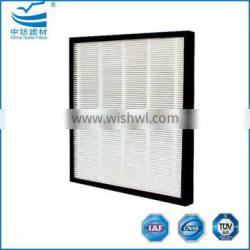Mini pleated paper HEPA air filter for air purifier