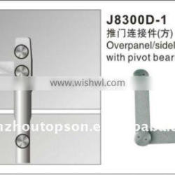 Glass swing door fittings/overpanel pivot