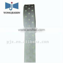 strip grosgrain ribbons with dots