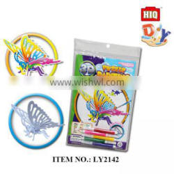New arrival lovely insect diy paper water color painting toys for kids