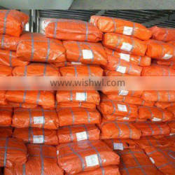 orange PE tarpaulin plastic sheet in bales
