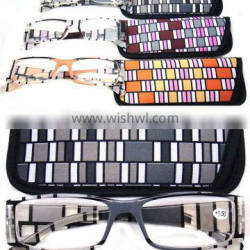 2013 nice desing reading glasses eyewear with pouch