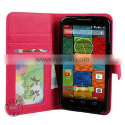 luxury folio leather case for moto x+1 cell phone case
