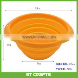 18cm Collapsible Dog Bowl Food Grade Silicone Foldable Expandable Cup Dish for Pet Cat Food Water Feeding Portable Travel Bowl