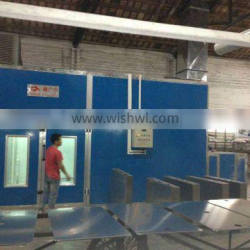 CE approval furniture water curtain spray booth with waterborne