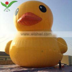 Tourist attractions display big yellow duck buoy model giant inflatable duck