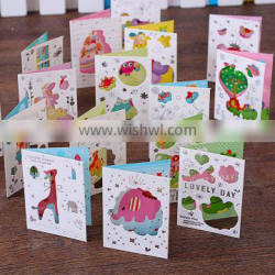Creative full color greeting gift card animal handmade greeting card Valentine's Day greeting card