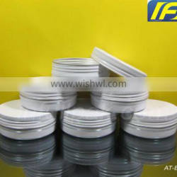 2oz/ 60g/ 60ml White Aluminum Makeup Tin