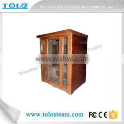 4 People Red Cedar Infrared Sauna Room for Health Benefit