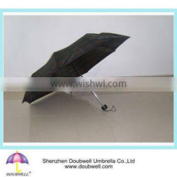 Manual open 3 foldable compact umbrella