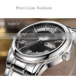 Branded clear thin luxury leather watch for men imported movement