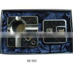 top-grade metal gift set lighter and ashtray