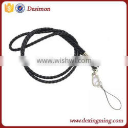 Top qualiry 5mm leather bride lanyard