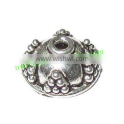 Silver Plated Caps, size: 5.5x12mm, weight: 1.02 grams. BMSPCP012