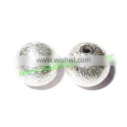 Silver Plated Brushed Beads, size: 8mm, weight: 0.71 grams. BMSPBR067