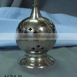 Brass Nickel Plated Incense Burners