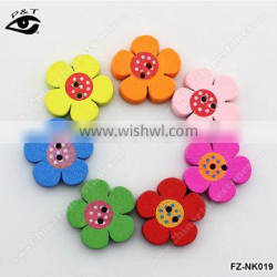 20MM Flower shape wood buttons for clothing shoes diy sewing accessories