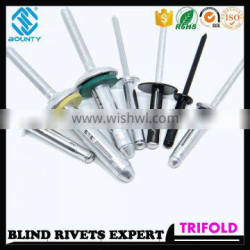 HIGH QUALITY FACTORY ALUMINUM TRIBULB BLIND RIVETS FOR GLASS CURTAIN WALL