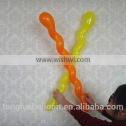 2016 wholesale long spiral balloon promotion balloon made in China/screw balloon
