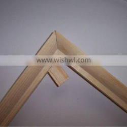 wooden stretcher bar with wooden wedge