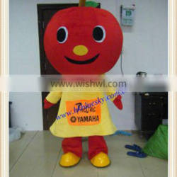 Custom smile apple mascottes costume for sale