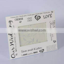 China best sale white picture frames